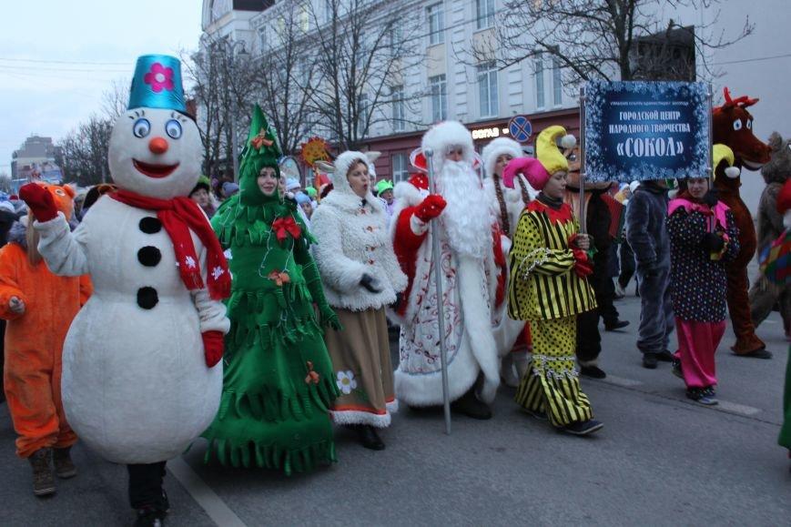 В Белгороде прошёл парад Дедов Морозов и Снегурочек, фото-1