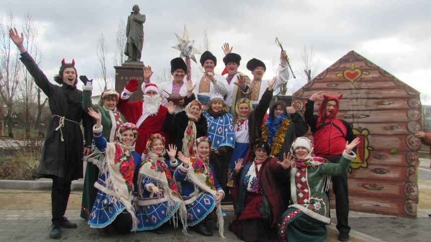 В северодонецком сквере Гоголя показали спектакль «Ночь перед Рождеством» (ФОТО), фото-10