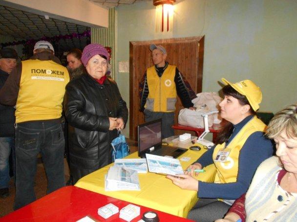 Продуктовая помощь для жителей Авдеевки (ФОТОРЕПОРТАЖ), фото-7