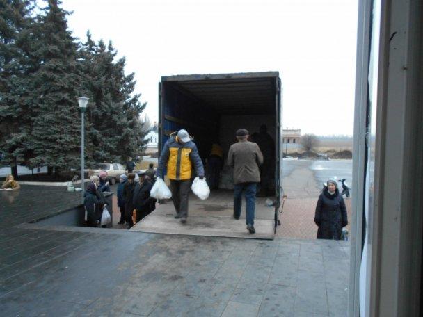 Продуктовая помощь для жителей Авдеевки (ФОТОРЕПОРТАЖ), фото-3