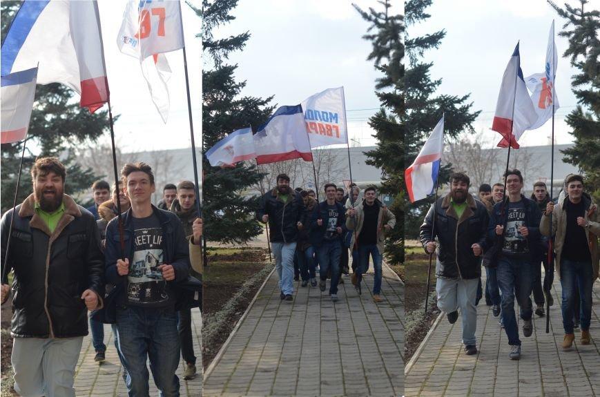 Крымские студенты устроили флеш-моб в поддержку российских легкоатлетов (ФОТО) (фото) - фото 2