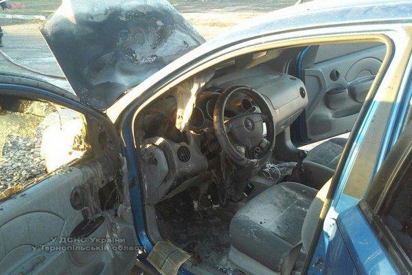 На Тернопільщині біля АЗС згорів автомобіль (фото) (фото) - фото 1