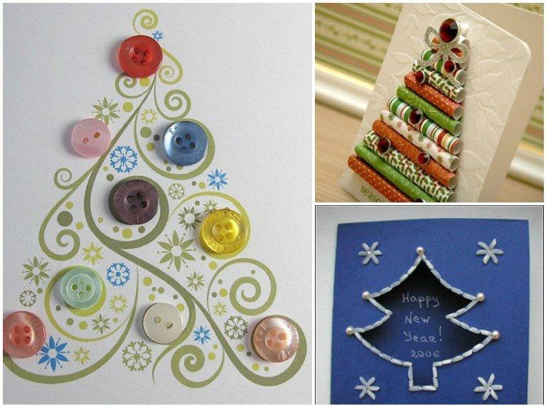 Ідеї новорічних листівок, які можна зробити швидко та з підручних матеріалів (Фото) (фото) - фото 4