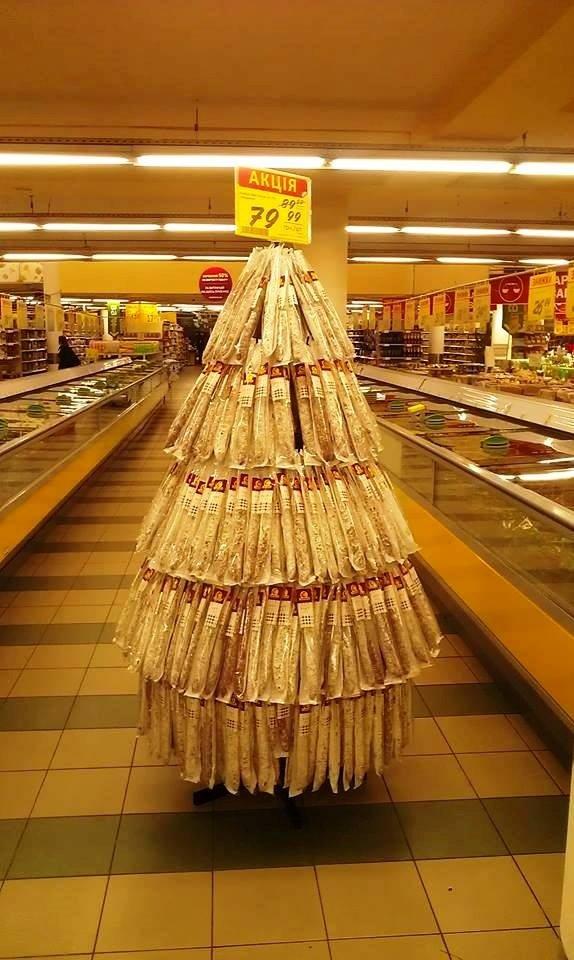 елка из колбас. Киев