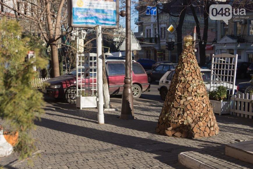 елка из поленьев, Одесса