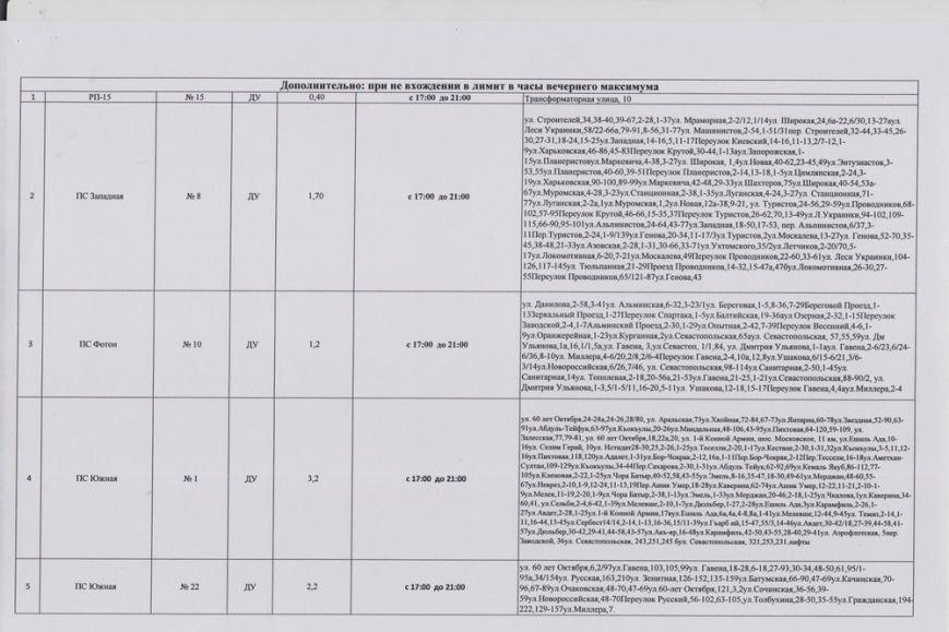 В Симферополе введен график отключения электроэнергии (фото) - фото 7