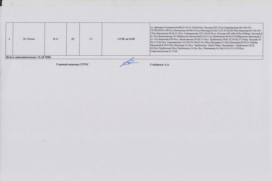 В Симферополе введен график отключения электроэнергии (фото) - фото 8