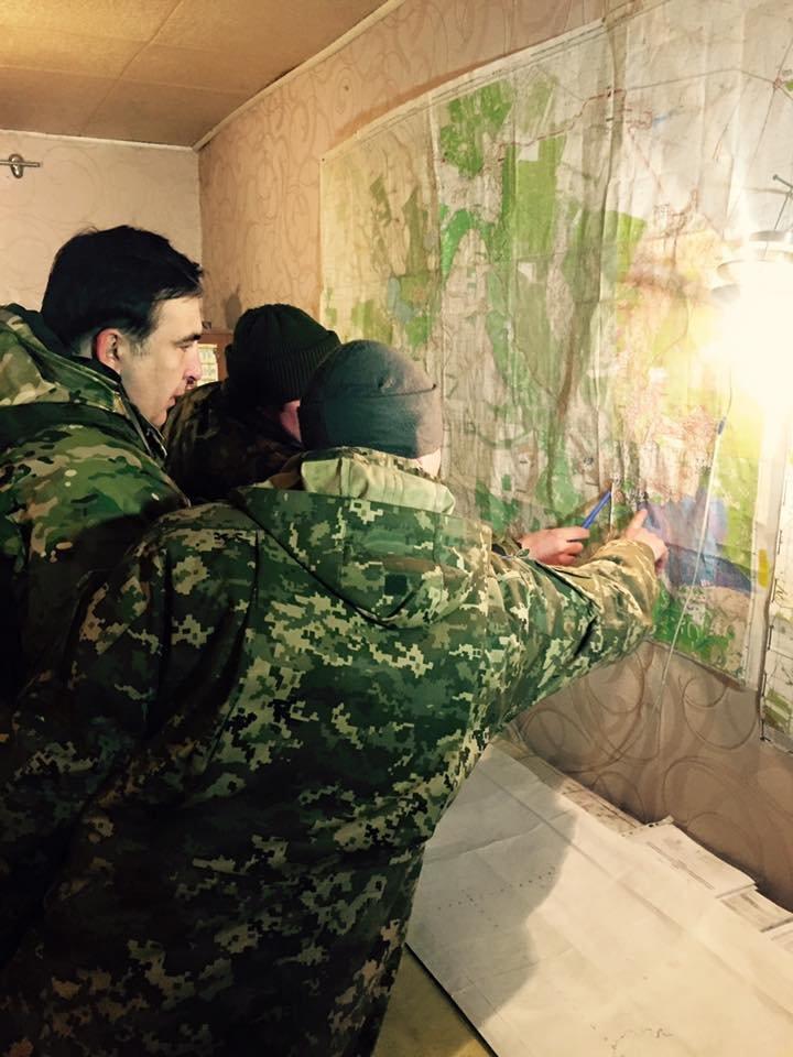 Одесский губернатор Саакашвили встретил Новый год в АТО (ФОТО), фото-2