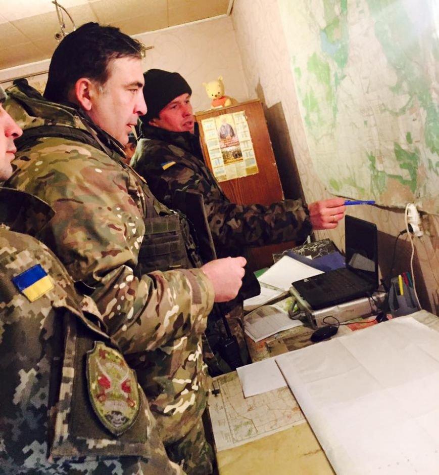Одесский губернатор Саакашвили встретил Новый год в АТО (ФОТО), фото-1