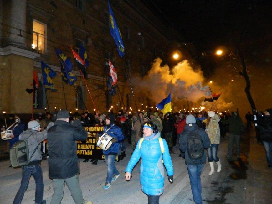 В Одессе националисты впервые провели факельное шествие в честь Бандеры (ФОТО), фото-2