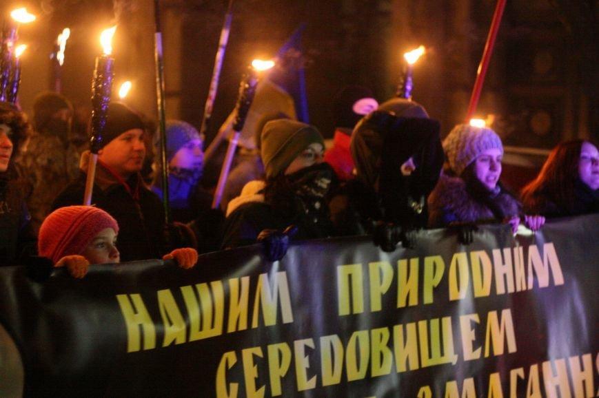В Одессе националисты впервые провели факельное шествие в честь Бандеры (ФОТО), фото-12