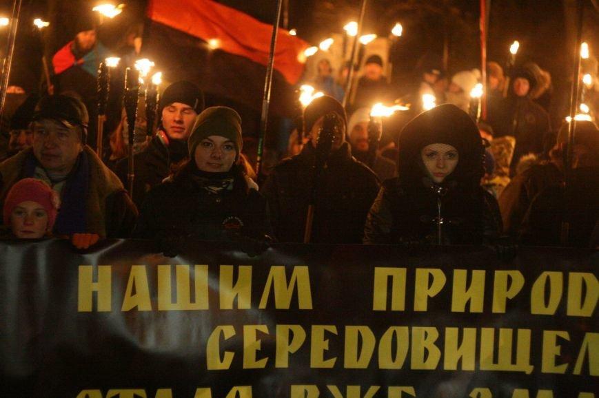 В Одессе националисты впервые провели факельное шествие в честь Бандеры (ФОТО), фото-6