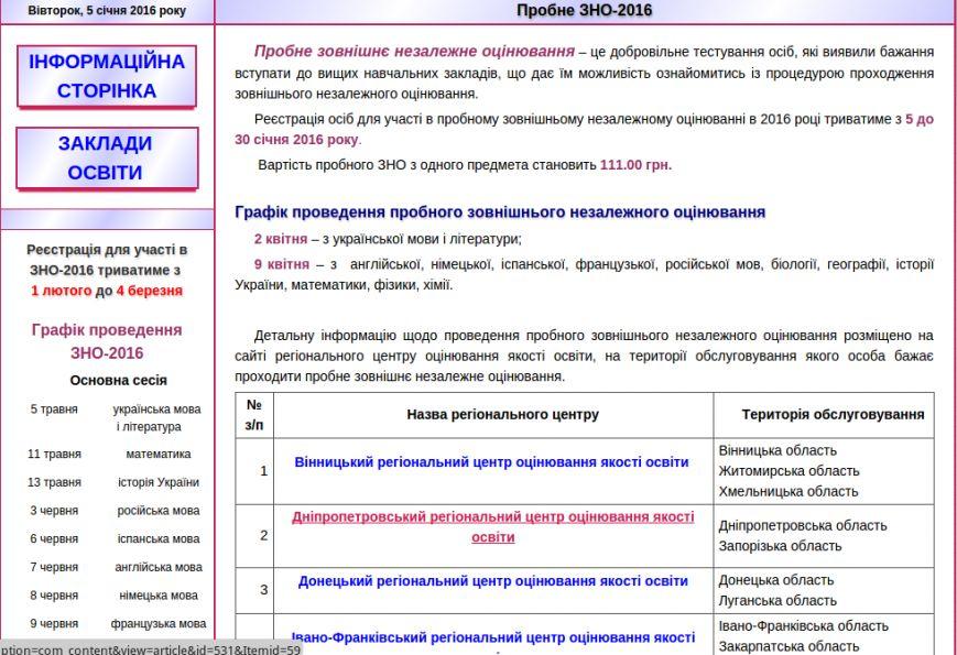 Путеводитель для будущих абитуриентов Днепропетровска: регистрация на пробное ВНО (фото) - фото 1
