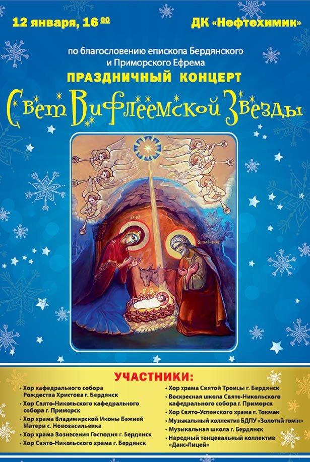 Рождественский концерт – «Свет Вифлеемской звезды» пройдет в Бердянске (фото) - фото 1
