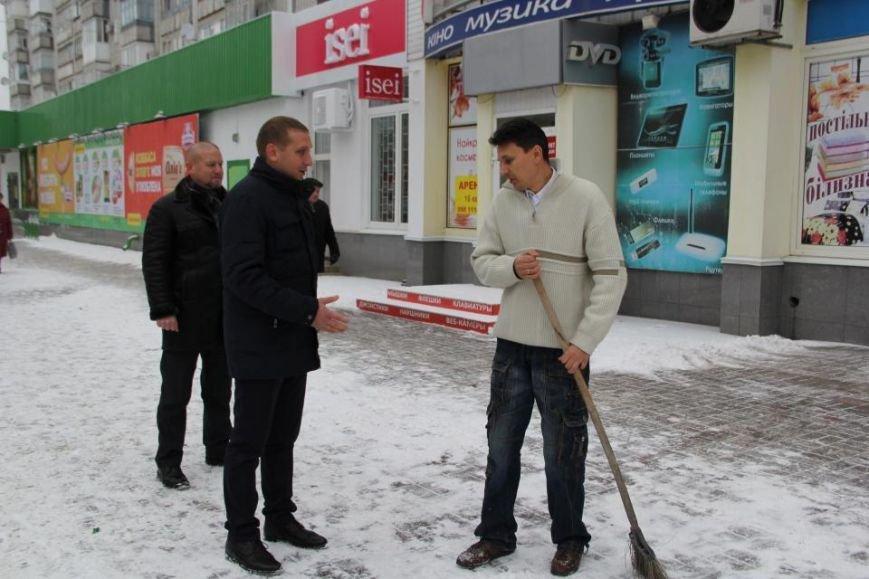 Мэр Кременчуга отругал предпринимателей за неубранный снег, фото-1