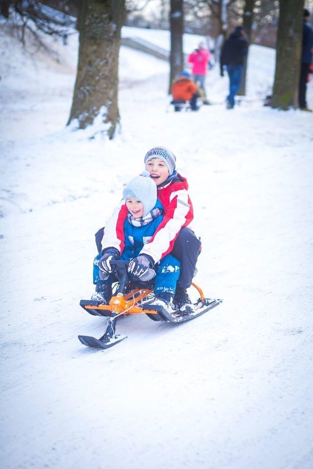 У Парку культури стартував сезон катання на санчатах (ФОТОРЕПОРТАЖ), фото-3