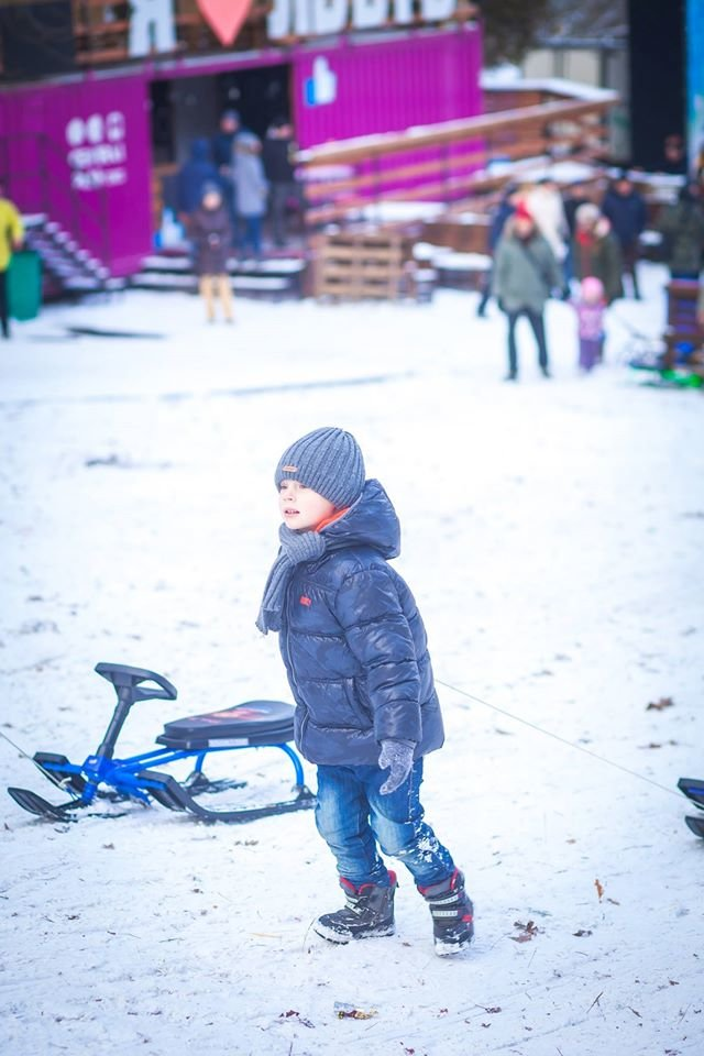 У Парку культури стартував сезон катання на санчатах (ФОТОРЕПОРТАЖ), фото-7