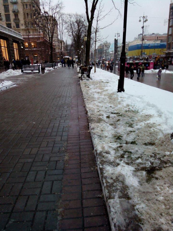Крещатик полностью очистили от снега (ФОТОФАКТ), фото-1