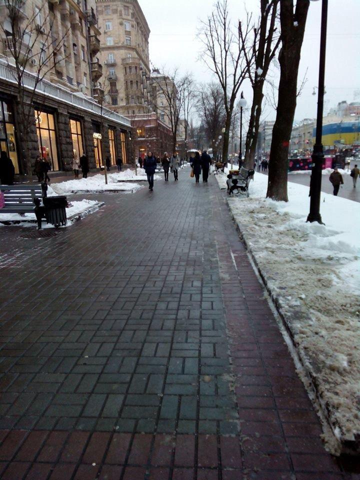 Крещатик полностью очистили от снега (ФОТОФАКТ), фото-3