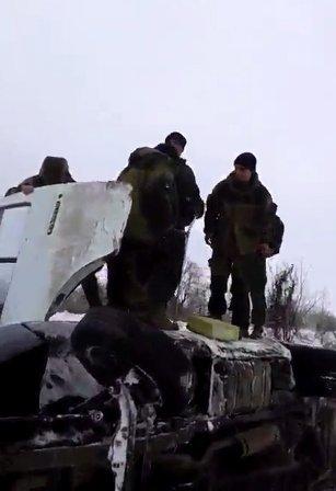 В Донецке перевернулся автобус с боевиками
