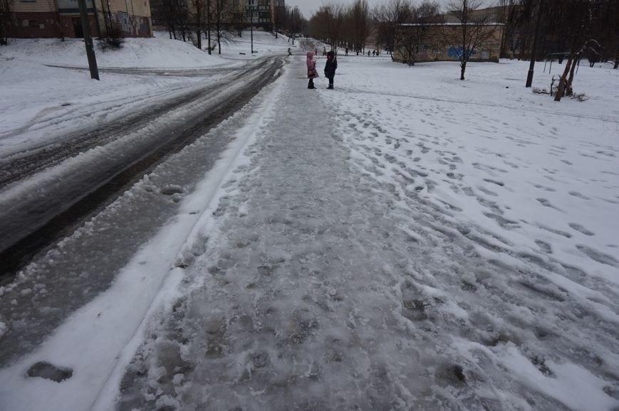 Маленькие криворожане добирались в школу и детские сады по расчищенным дорогам (ФОТО) (фото) - фото 1