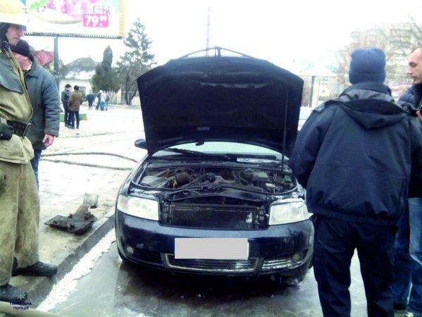 На Левандівці спалахнула іномарка: подробиці (ФОТО) (фото) - фото 1