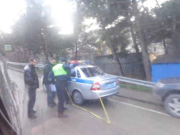 Авария на ЮБШ стала причиной внушительной пробки (фото) - фото 1