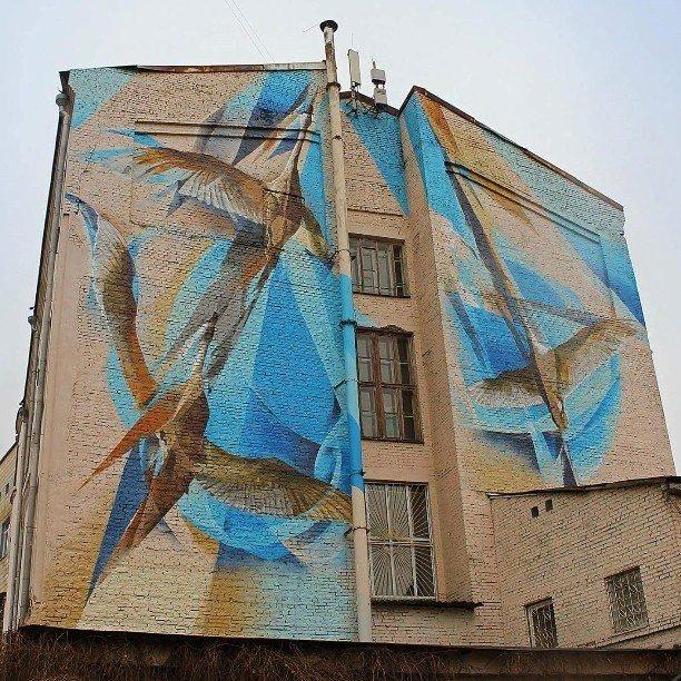 В центре Киева появился новый мурал с птицами (ФОТО) (фото) - фото 1
