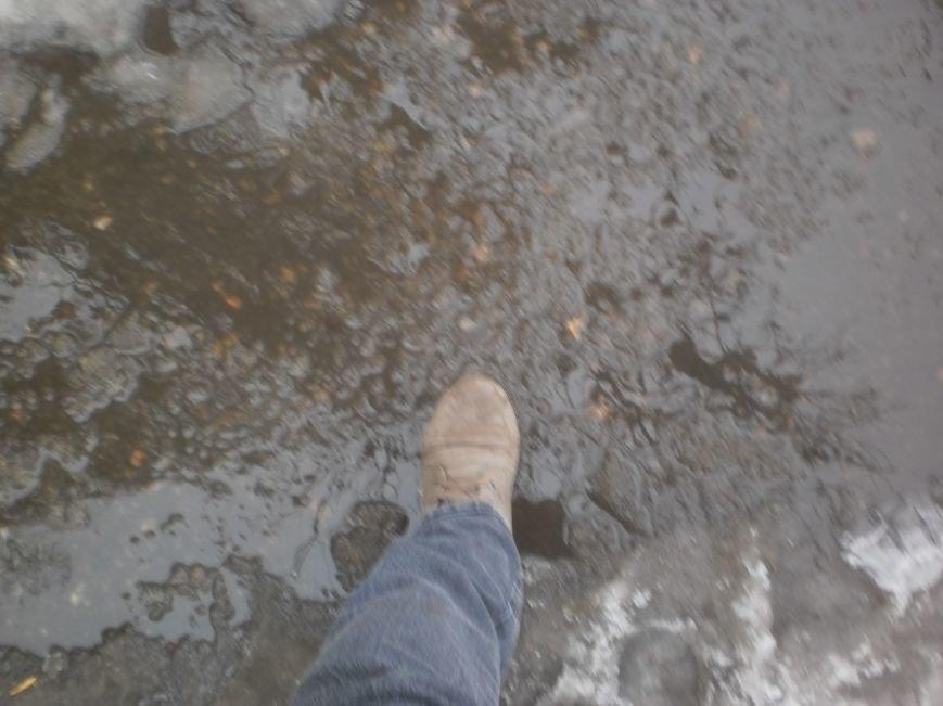 Даже на центральных улицах Кривого Рога горожане передвигаются по воде и снежной каше (ФОТО) (фото) - фото 2