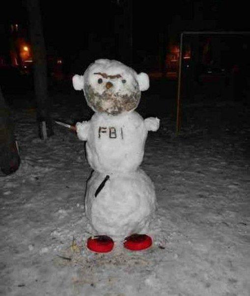 снеговик тополь
