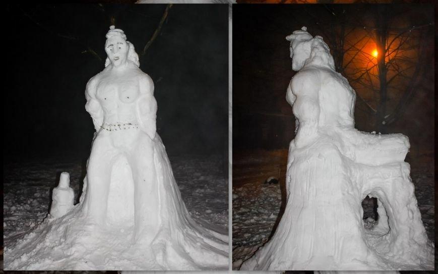 снеговик фестивальный
