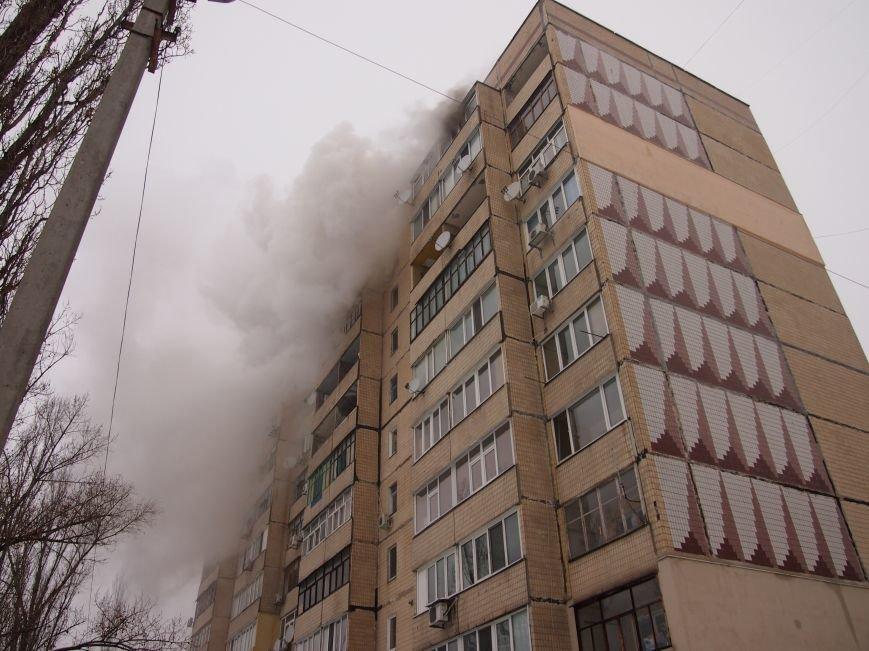 На левобережье Днепродзержинска произошел пожар в кухне квартиры (фото) - фото 1