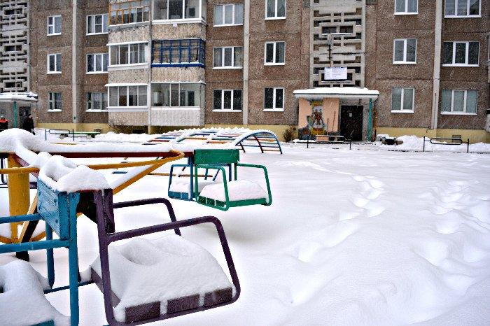 Циклон в Новополоцке: фоторепортаж с городских улиц (фото) - фото 1