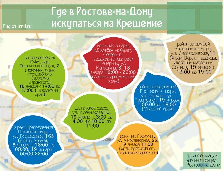 В Ростове-на-Дону определили места купелей на Крещение (фото) - фото 1
