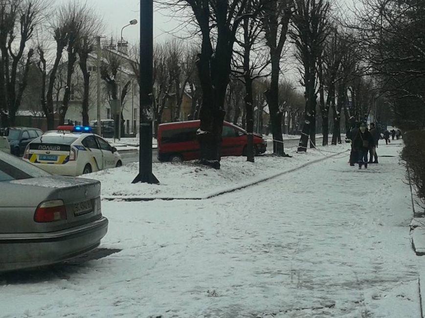 На вулиці Виговського автомобіль врізався у дерево (ФОТО), фото-1