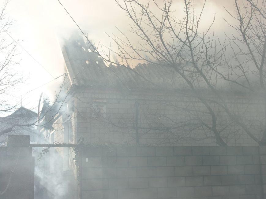 Днепродзержинские спасатели ликвидировали пожар в частном доме по улице Путевой (фото) - фото 1