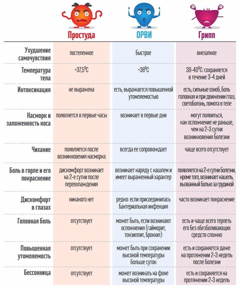 Як відрізнити грип від застуди та ГРВІ (Інфографіка) (фото) - фото 1