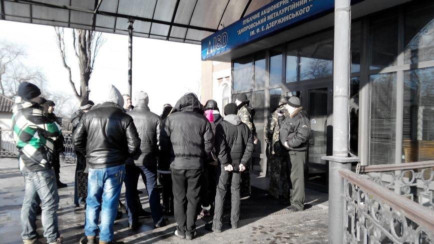 В Днепродзержинске сотрудники ДМК выступили на митинге против задержек по зарплате (фото) - фото 3