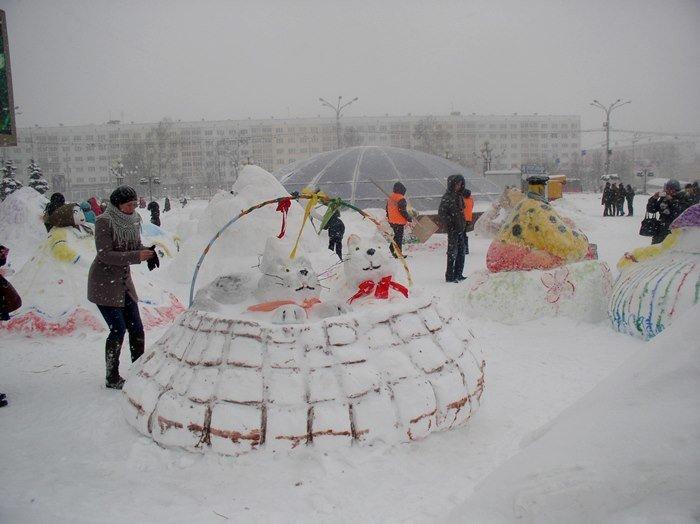 Что было самое интересное на «празднике снега» в Витебске (фото) - фото 8
