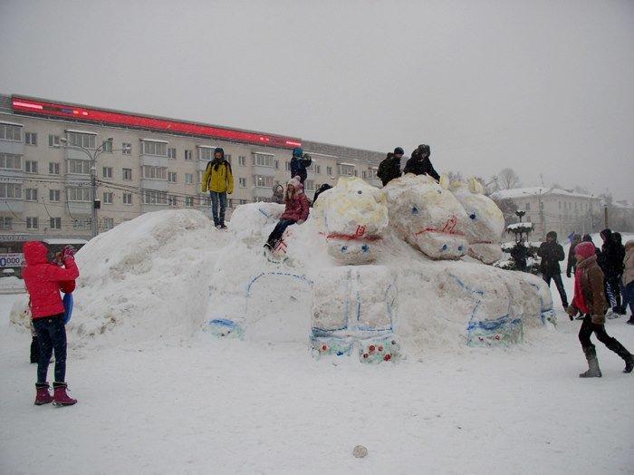 Что было самое интересное на «празднике снега» в Витебске (фото) - фото 1