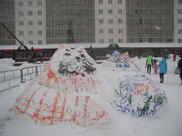 Что было самое интересное на «празднике снега» в Витебске (фото) - фото 6