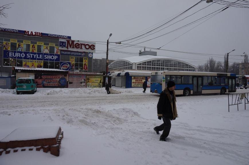 Как криворожане добирались на работу по заметенным снегом дорогам (ФОТО) (фото) - фото 6