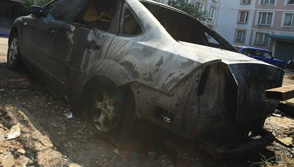 Этой ночью в Ялте снова сгорел автомобиль (фото) - фото 1
