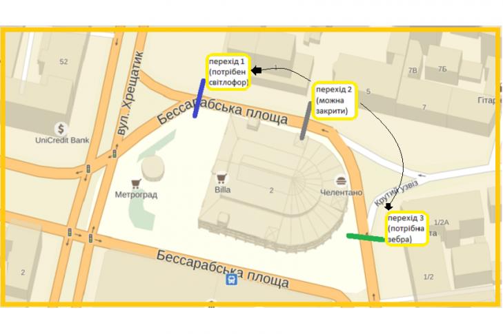 В Киеве предлагают сделать переход на Бессарабке (фото) - фото 1