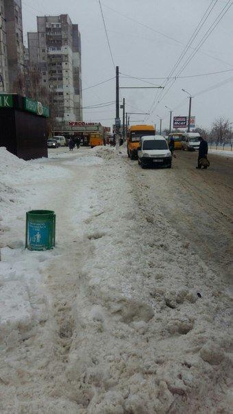 Днепропетровск после снегопада: транспорт работает без сбоев, тротуары посыпаны (ФОТО) (фото) - фото 1