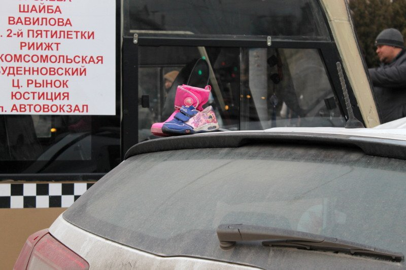 ДТП в центре Ростова: маршрутка протаранила два автомобиля, фото-2