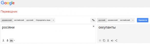 Google перекладав слово