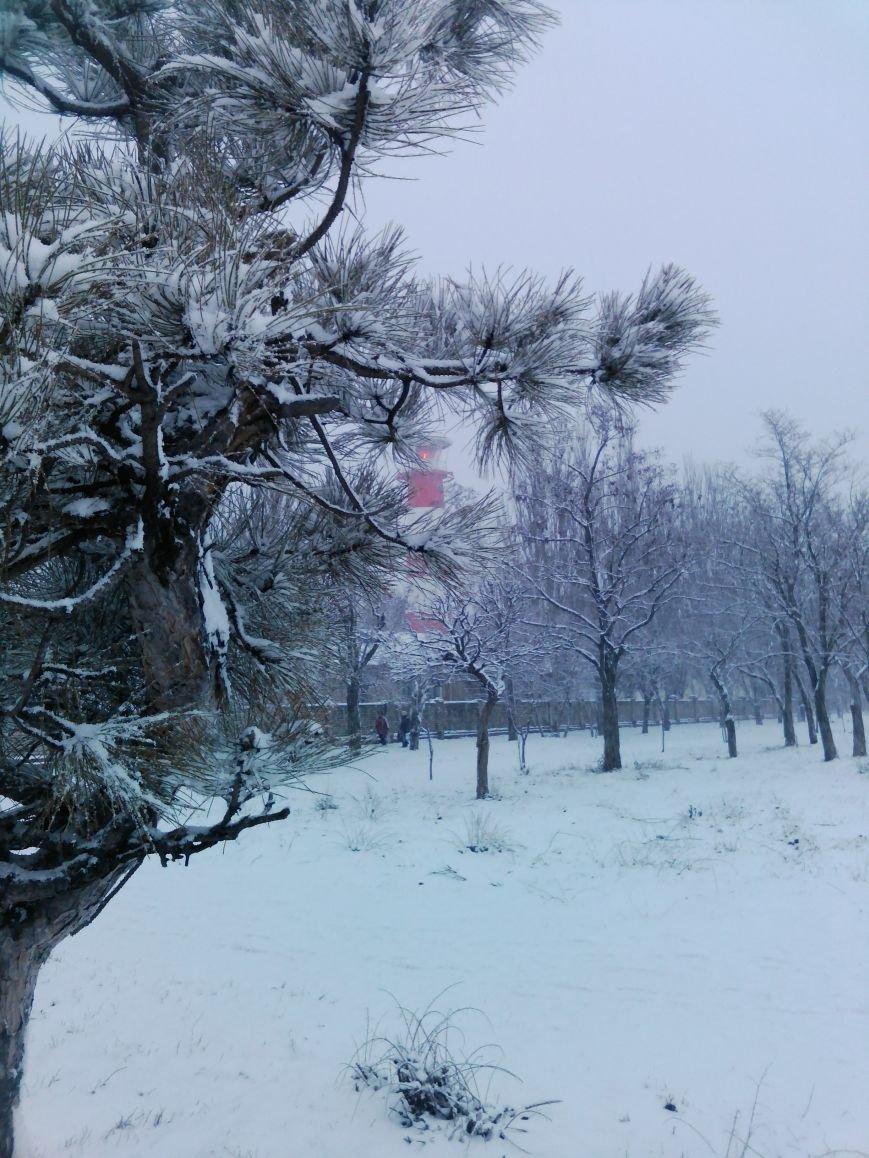 Снегопад в Бердянске (Фоторепортаж), фото-19
