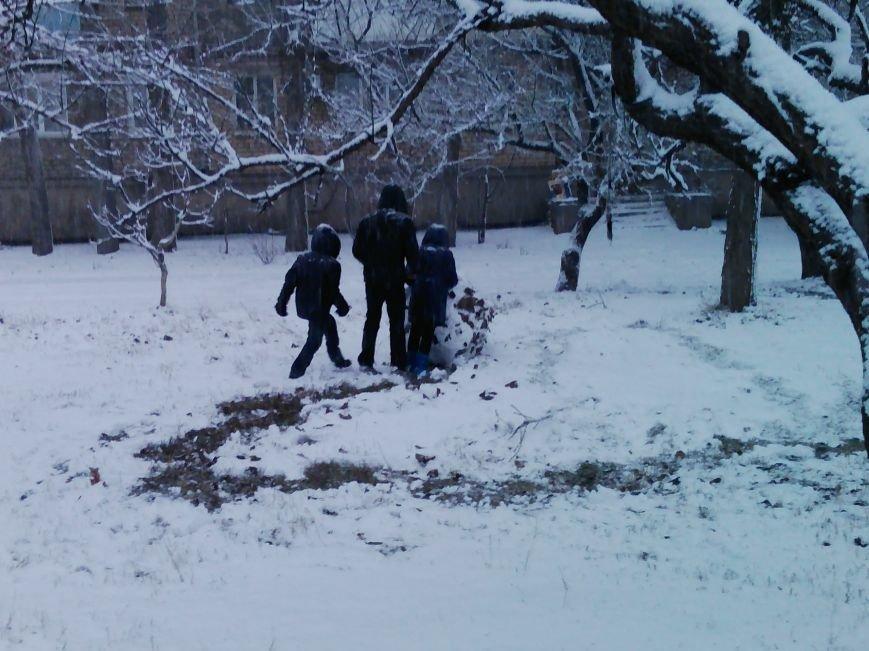 Снегопад в Бердянске (Фоторепортаж), фото-12