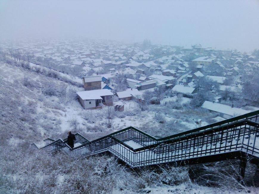 Снегопад в Бердянске (Фоторепортаж), фото-9
